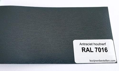Kunststof antraciet houtnerf RAL 7016