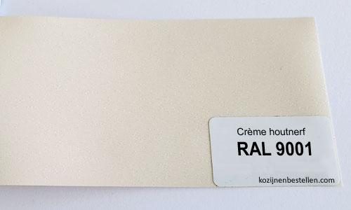 Kunststof crème houtnerf RAL 9001