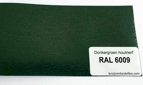 Kunststof donkergroen houtnerf RAL 6009