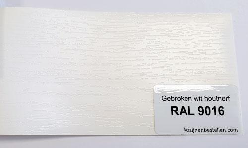 Kunststof wit houtnerf RAL 9016