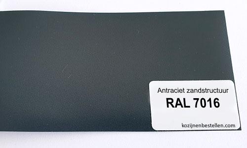 Kunststof antraciet structuur RAL 7016