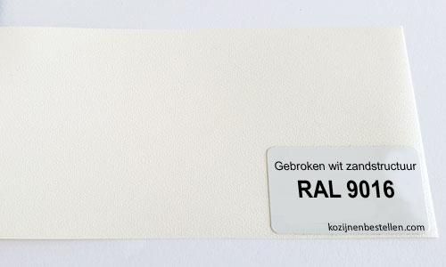 Kunststof wit structuur RAL 9016