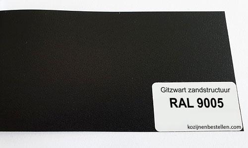 Kunststof zwart structuur RAL 9005